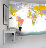 3D Color Map Wall Mural Wallpaper 3