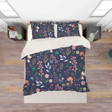 3D Blue Floral Leaves Branch Quilt Cover Set Bedding Set Pillowcases 20