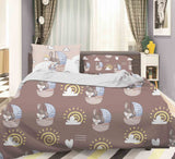 3D Brown Puppy Pirates Sailboat Quilt Cover Set Bedding Set Pillowcases 66