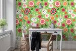 3D Cartoon Rabbit Floral Wall Mural Wallpaper 21 - Jessartdecoration