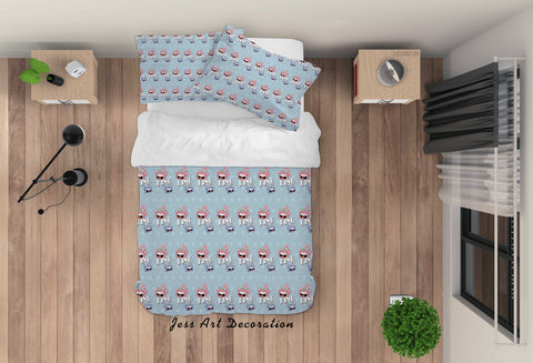 3D Cartoon Blue Crab Quilt Cover Set Bedding Set Duvet Cover Pillowcases LXL 148