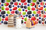 3D Fruits Blueberry Mulberry Strawberry Wall Mural Wallpaper 70