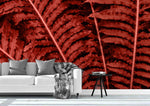 3D red leaves wall mural wallpaper 24
