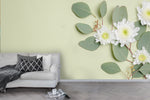 3D flower branch leaves wall mural wallpaper 72