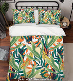 3D Green Leaves Quilt Cover Set Bedding Set Pillowcases 157
