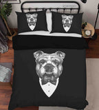 3D Hand Drawn Animal Black Dog Quilt Cover Set Bedding Set Duvet Cover Pillowcases 129 LQH