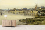3D fishing village scenery oil painting wall mural wallpaper 26