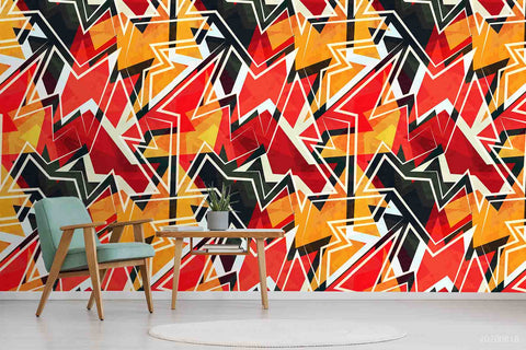 3D Vintage Colorful Geometric Pattern Wall Mural Wallpaper LXL 1201