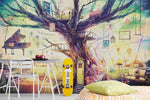 3D  Cartoon Tree House For Kids Wall Mural Wallpaper WJ 1304