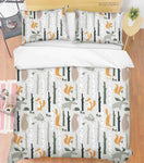 3D Hand Drawn Forest Animals Quilt Cover Set Bedding Set Duvet Cover Pillowcases 37