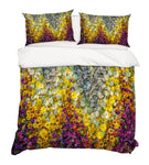 3D Yellow Purple Floral Quilt Cover Set Bedding Set Pillowcases 09