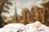 3D Castle Background Wall Mural Wallpaper  3