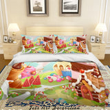 3D Cartoon Dessert Illustration Quilt Cover Set Bedding Set Duvet Cover Pillowcases 12