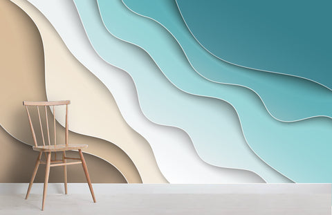 3D Color Gradation Wall Mural Wallpaper 49