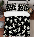 3D Red-crowned Crane Quilt Cover Set Bedding Set Pillowcases 07