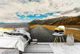 3D blue sky highway wall mural wallpaper 92