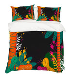 3D Abstract Colorful Tree Leaves Quilt Cover Set Bedding Set Pillowcases 91