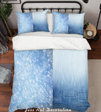 3D Blue Rain Quilt Cover Set Bedding Set Pillowcases 40