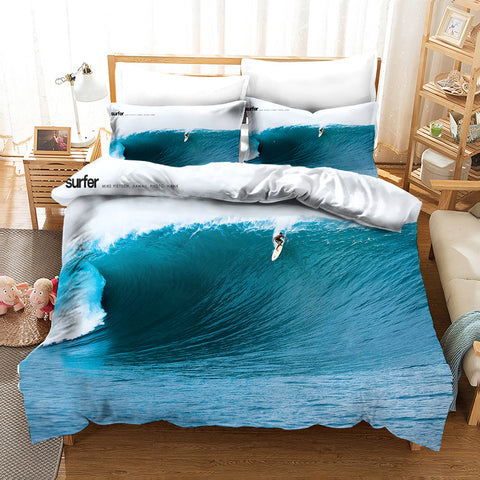 3D Surfer Sea Quilt Cover Set Bedding Set Pillowcases 148