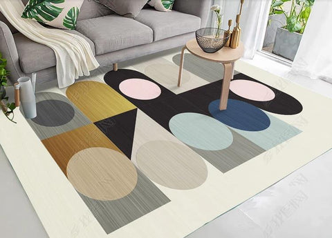 3D Abstract Geometric Pattern Non-Slip Rug Mat 16
