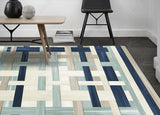 3D Abstract Geometric Pattern Non-Slip Rug Mat 19