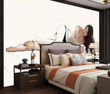 3D Hand drawing Portrait Characters Wall Mural Wallpape 485