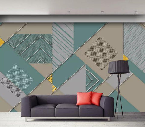 3D Geometry Graphical Background Wall Mural Wallpape 50