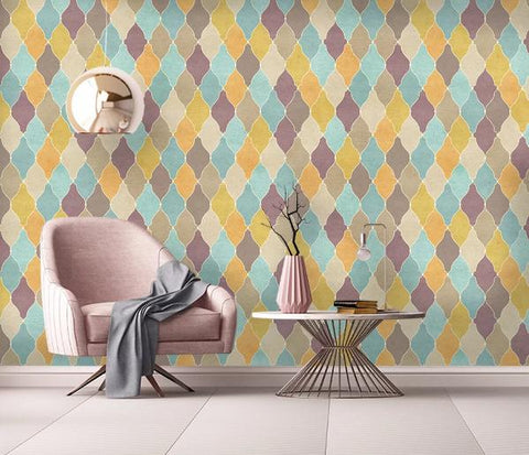 3D Geometry Graphical Wall Mural Wallpape 195