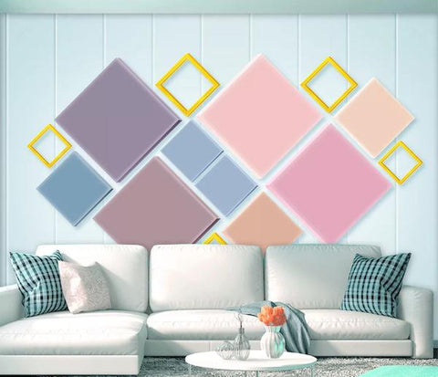 3D Geometry Graphical Background Wall Mural Wallpape 64