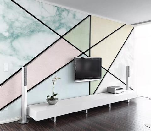 3D Abstract Geometric Pattern Wall Mural Wallpaper 47