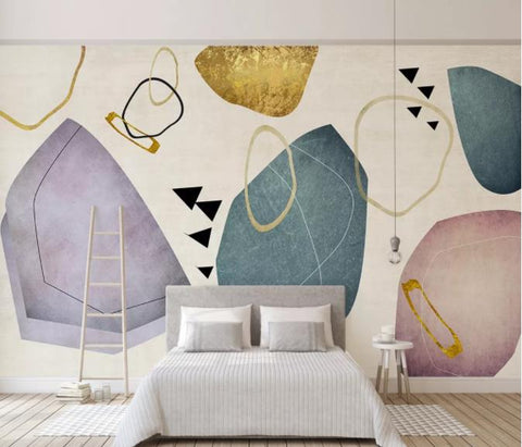 3D Abstract Geometric Pattern Wall Mural Wallpaper 49