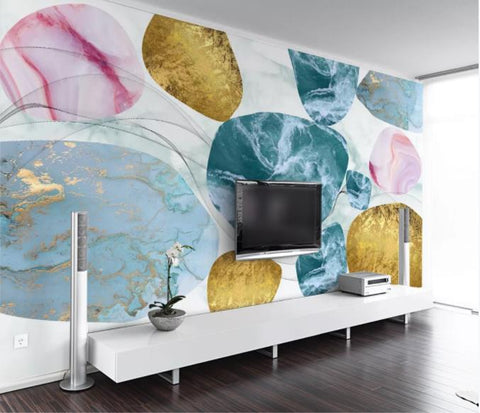 3D Abstract Geometric Marble Wall Mural Wallpaper 51