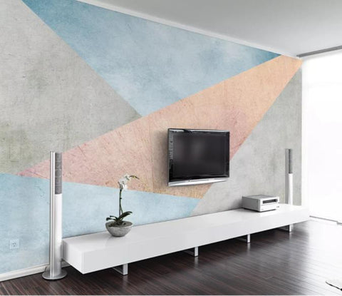 3D Abstract Geometric Pattern Wall Mural Wallpaper 58