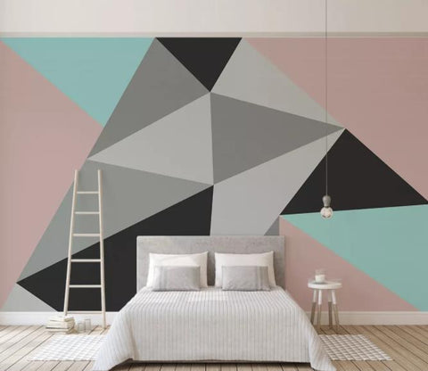 3D Abstract Geometry Wall Mural Wallpaper 70