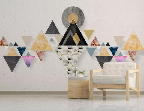 3D Abstract Triangle Wall Mural Wallpaper 99