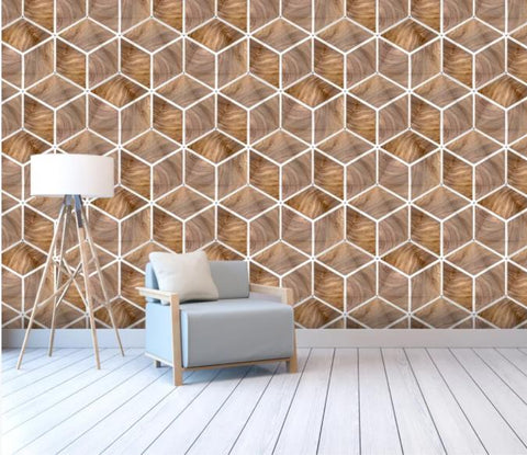3D Abstract Geometry Wall Mural Wallpaper 163