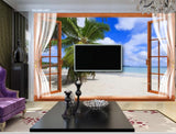 3D Ground Window Scenery Wall Mural Wallpaper 171