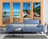 3D Ground Window Scenery Wall Mural Wallpaper 170