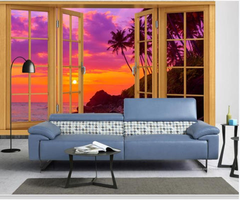 3D Ground Window Scenery Wall Mural Wallpaper 190