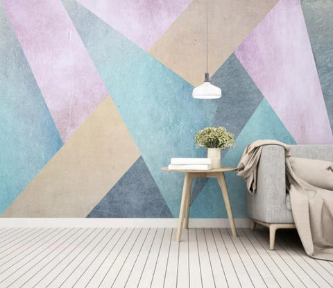 3D Abstract Geometric Pattern Wall Mural Wallpaper 37