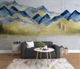 3D Blue Mountain Landscape Wall Mural Wallpaper 46