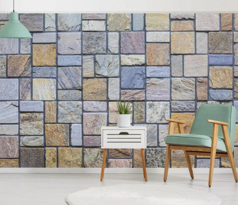 3D Abstract Cement Wall Mural Wallpaper 83