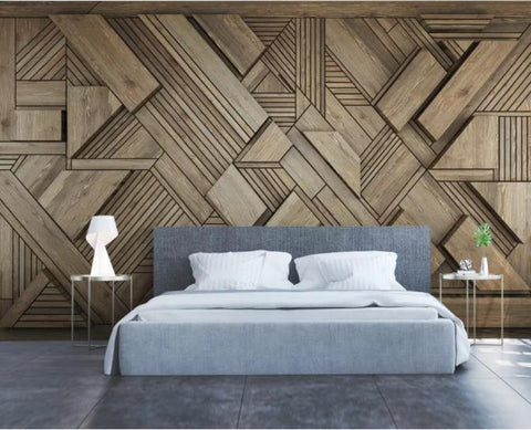 3D Brown Abstract Geometry Wall Mural Wallpaper 122
