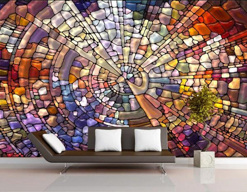3D Abstract Geometric Pattern Wall Mural Wallpaper 69