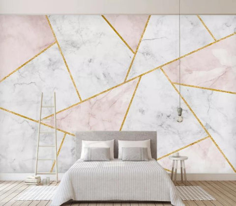 3D Geometry Marble Decorative Effect Wall Mural Wallpape  129