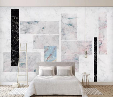 3D Geometry Marble Decorative Effect Wall Mural Wallpape  130