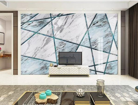 3D Geometry Marble Decorative Effect Wall Mural Wallpape  142