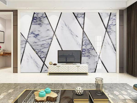 3D Geometry Marble Decorative Effect Wall Mural Wallpape  143
