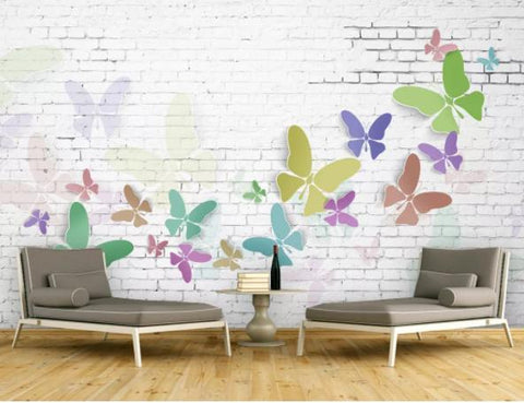 3D Butterfly Decorative Effect Wall Mural Wallpaperpe 175