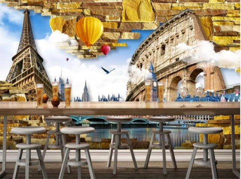 3D Building Scenery Wall Mural Wallpaperpe 472